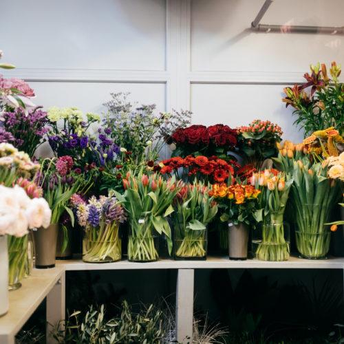Blumenverkauf Blumenangebot Lilien Rosen Gerbera Tulpen