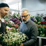 Blumenverkäufer Blumenstrauss Gänseblümchen