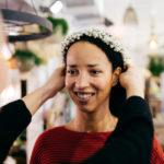 Kundin Blumenschmuck Hochzeitsblumen Hochzeitskranz