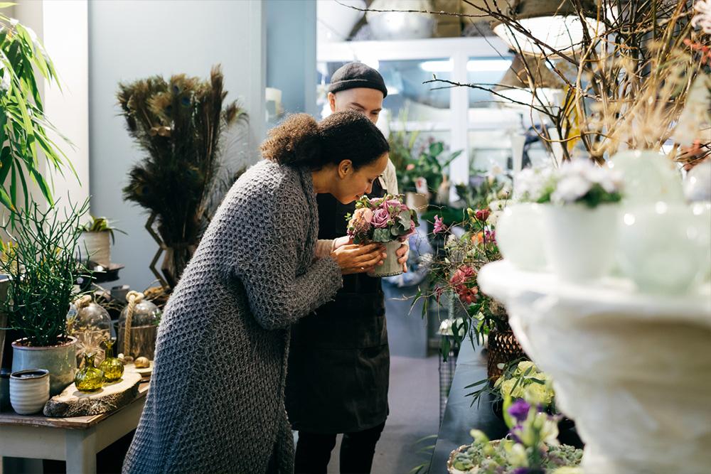 Blumenladen Blumenverkauf Blumenduft