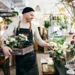 Blumenangebot Blumenverkäufer Gärtner